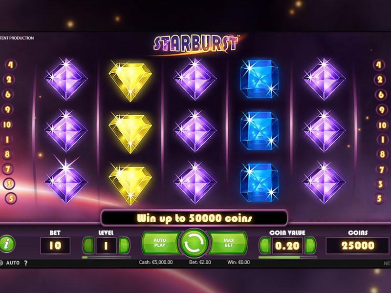 Der beliebte online Starburst Slot von NetEnt